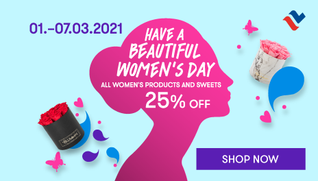 All women's products and sweet 15% off in web shop 1.-7.3.2021