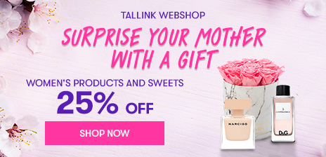 Surprise your mother with a gift. Get 25% discount in web shop.