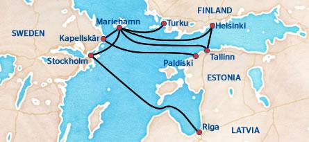 Aland Island One Way And Roundtrips Tallink Silja Line - Aland islands world map