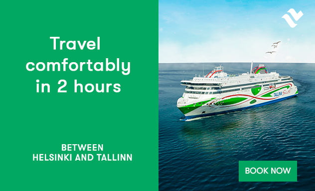 Travel comfortably between Helsinki and Tallinn in 2 hours