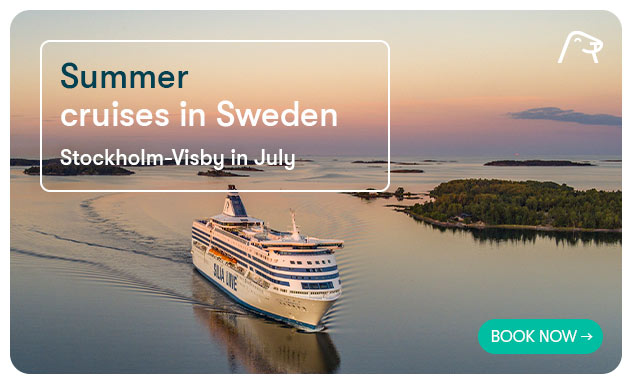 Summer cruises in Sweden- Stockholm-Visby in July.
