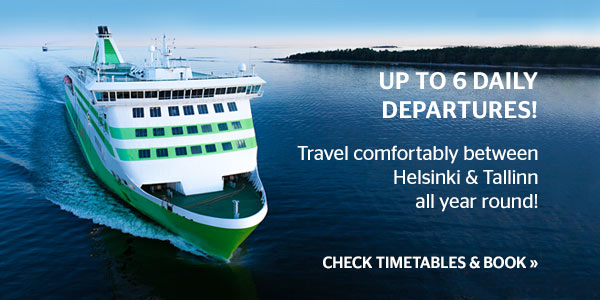 Travel comfortably between Helsinki and Tallinn all year round!