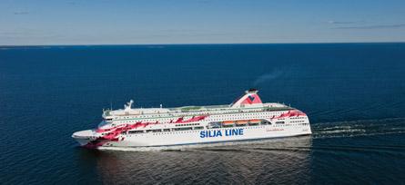 Baltic Princess Siljan väreissä. Kuva: Silja Line