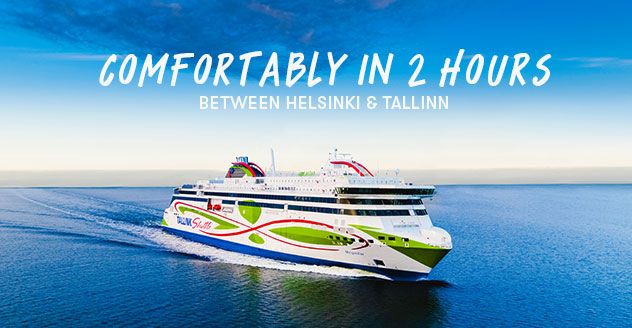 Comfortably in 2 hours between Helsinki and Tallinn