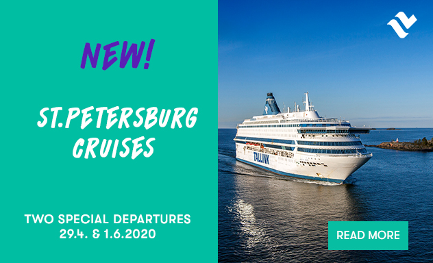 New! St.Petersburg cruises Two special departures 29.4.and 1.6.2020