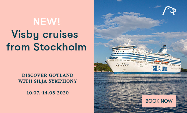 New! Visby cruises from Stockholm 10.07.-08.08.2020
